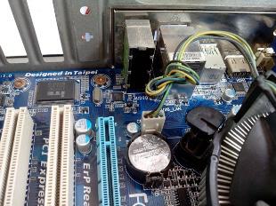 fan connector on motherboard