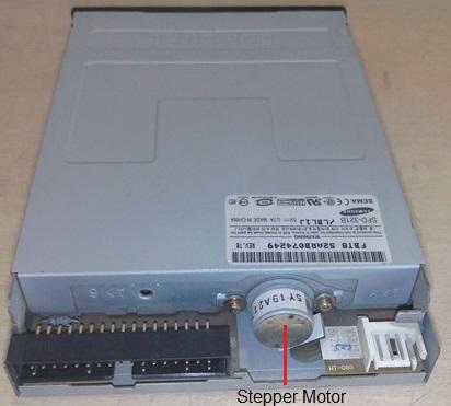 floppy disk drive stepper motor