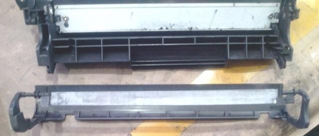 internal view laser toner
