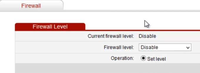 turn on firewall to secure wireless router