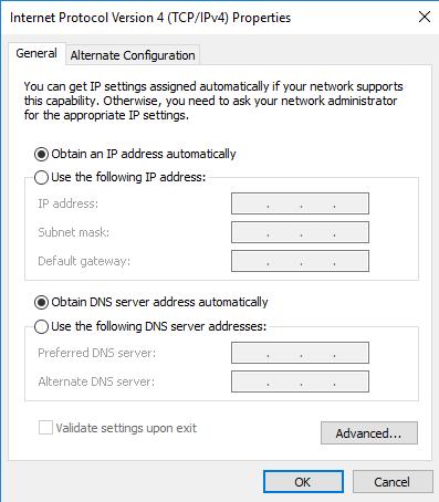 automatic IP address