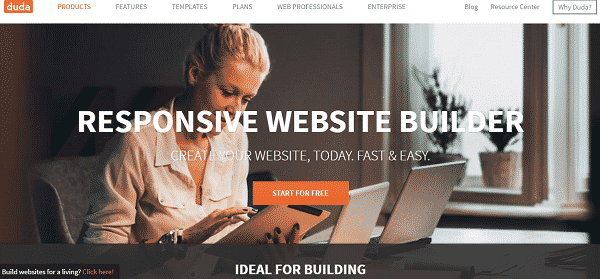 dudaone website builder tool