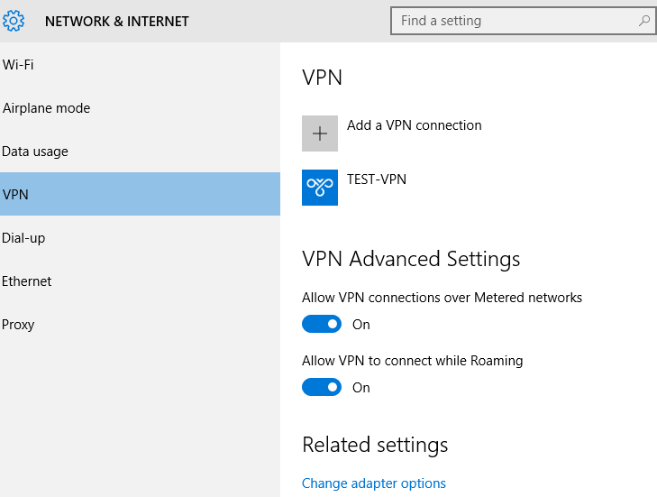 new-vpn-connection