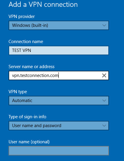 vpn configuration setup