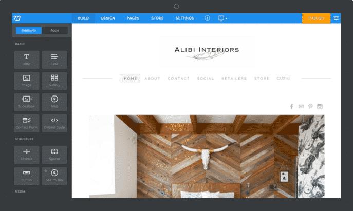 weebly website builder tool img