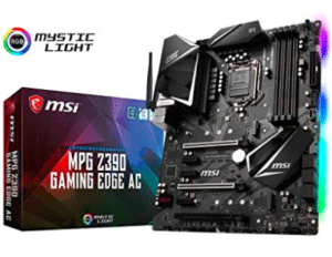 image of gaming motherboard and its box
