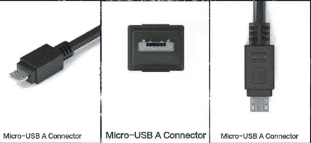 micro usb typeA connectors