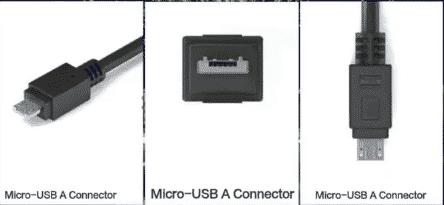 micro usb typeA connectors