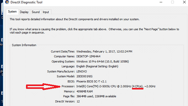 check processor speed