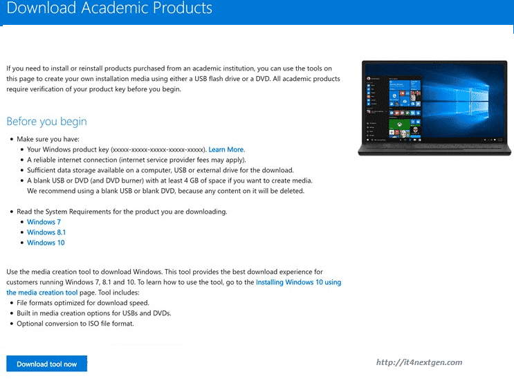 download-windows-academic