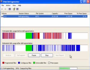 disk-defragmenter-Windows-XP