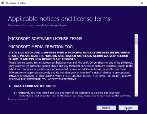 Microsoft License terms