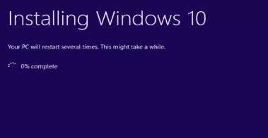 resinstalling windows10