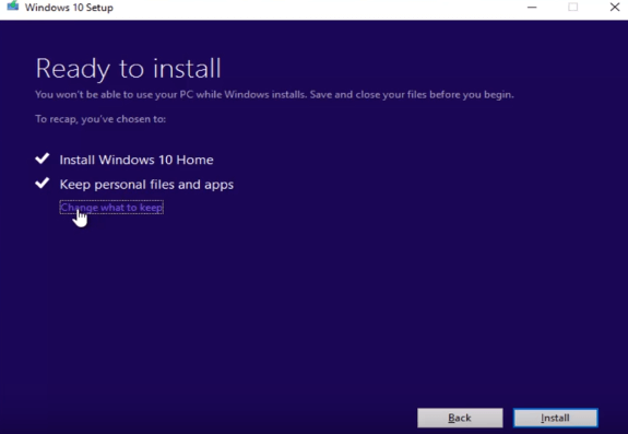 ready to reinstall windows 10