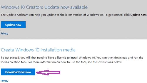 windows-10 installation media