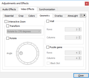 Correct orientation-How to Rotate Video in VLC Media Player?