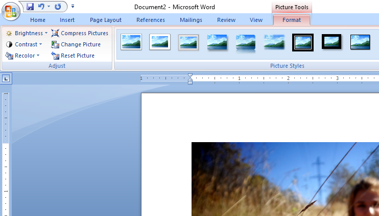 Format-image-in-word