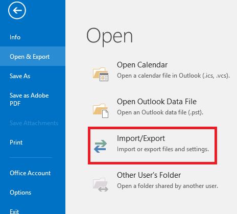 import-export-outlook-data