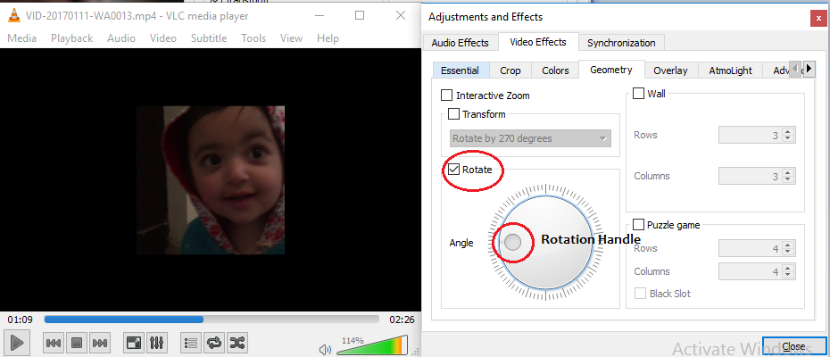 rotate video by rotate option