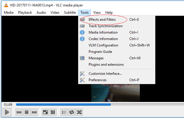 Correct orientation how to rotate video in vlc media player tools effects and filters ccuart Images