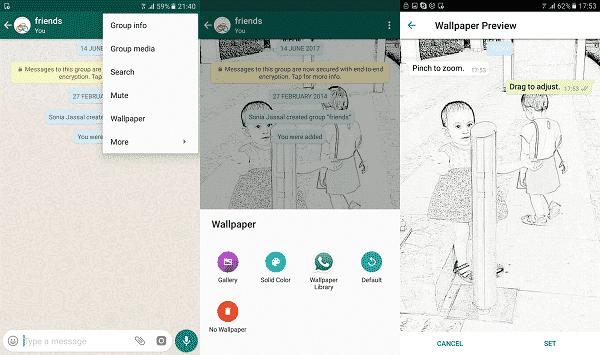 change chat wallpaper