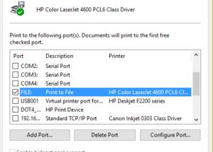 how to send prn file to printer