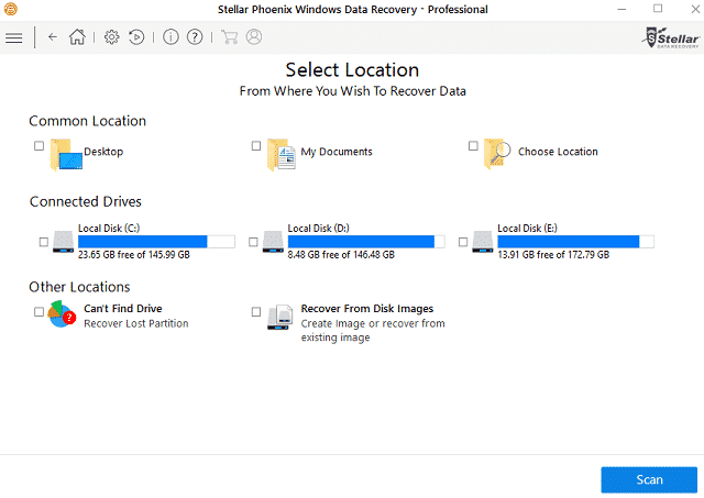 drives to scan interface