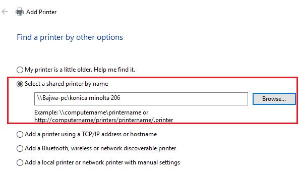 search network printer