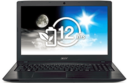 front-vie of acer aspire