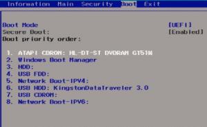 change boot-order-in-UEFI-bios-windows-10