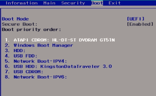 How to Change the Boot Order in UEFI BIOS in Windows