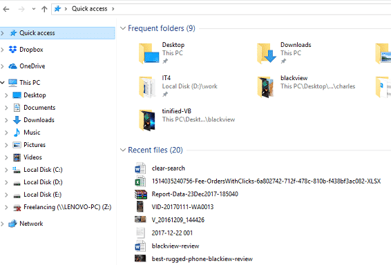 lear-recent-file-history-windows-10