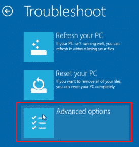 troubleshoot button