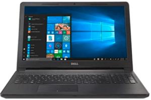 screenshot of Dell notebook
