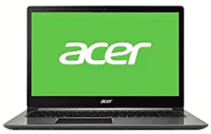 front view of acer-swift laptop