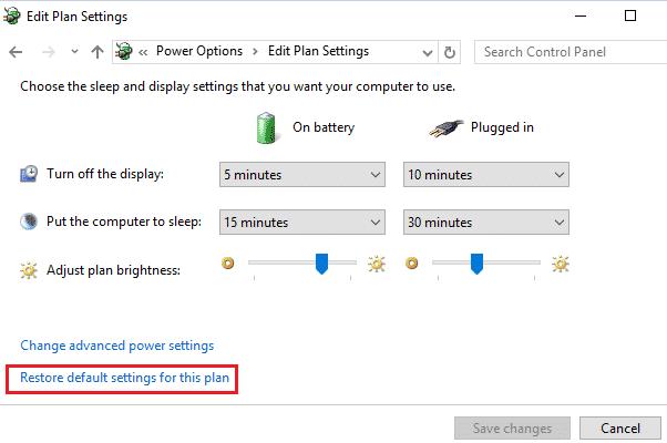default-power-options