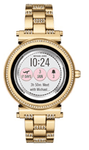 front-view of Michael Kors smartwatch for women