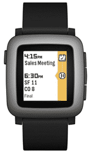 image of pebble's smartwatch for women