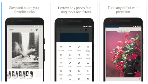 screenshot of snapseed photo-editing android app