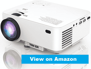 image showing tenker-mini-projector in white color