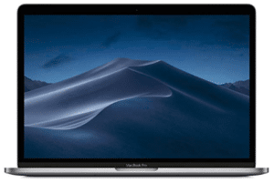 image showing front view of Macbook Pro for students