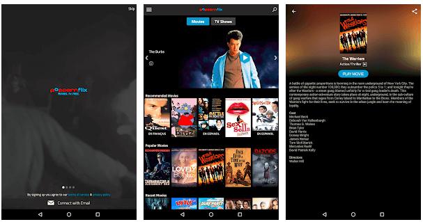 popcorn-streaming app's screenshots