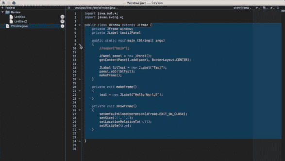 screenshot of bbedit editor for developers