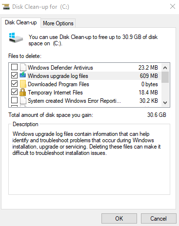 disk-cleanup windows screenshot