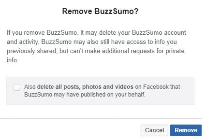 remove buzzsumo app
