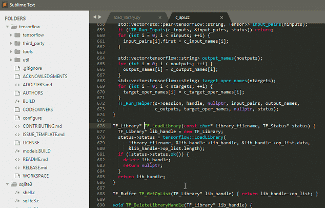 image showing sublime-text editor