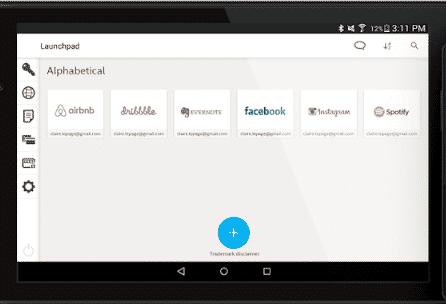 image showing true-key password manger's launchpad