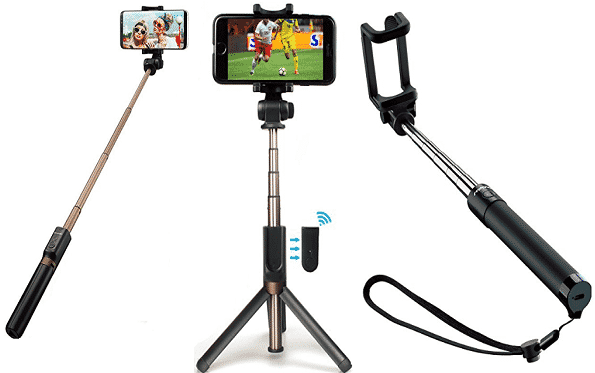 Phone Tripod,Extendable Aluminum Selfie Stick with Detachable Wireless Remote,Non Skid Tripod Stand,Compact for iPhone /& Android Devices,with 2 in 1 Phone Wide Angle Selfie Stick Tripod Macro Lens