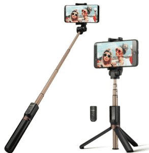 image of blitzwolf in tripod and selfie stick forms