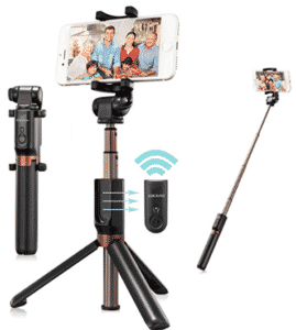 screenshot of eocean selfie stick in various modes